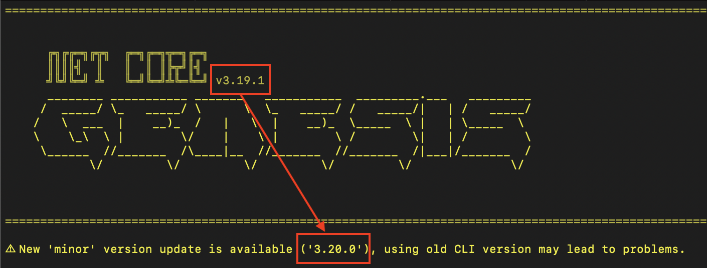CLI_is_not_up_to_date
